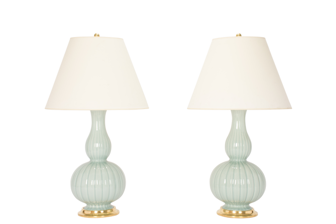 Suzanne Lamp Pair in Duck Egg