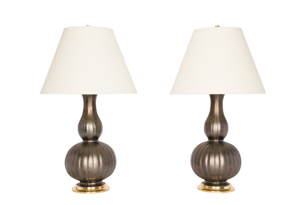 Suzanne Lamp Pair in Matte Bronze