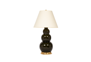Three Ball Large Lamp in Olive