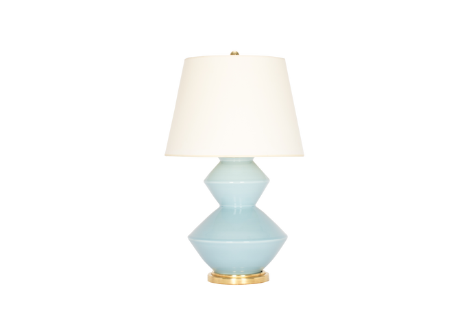 Wide Zig Zag Lamp in Hydrangea