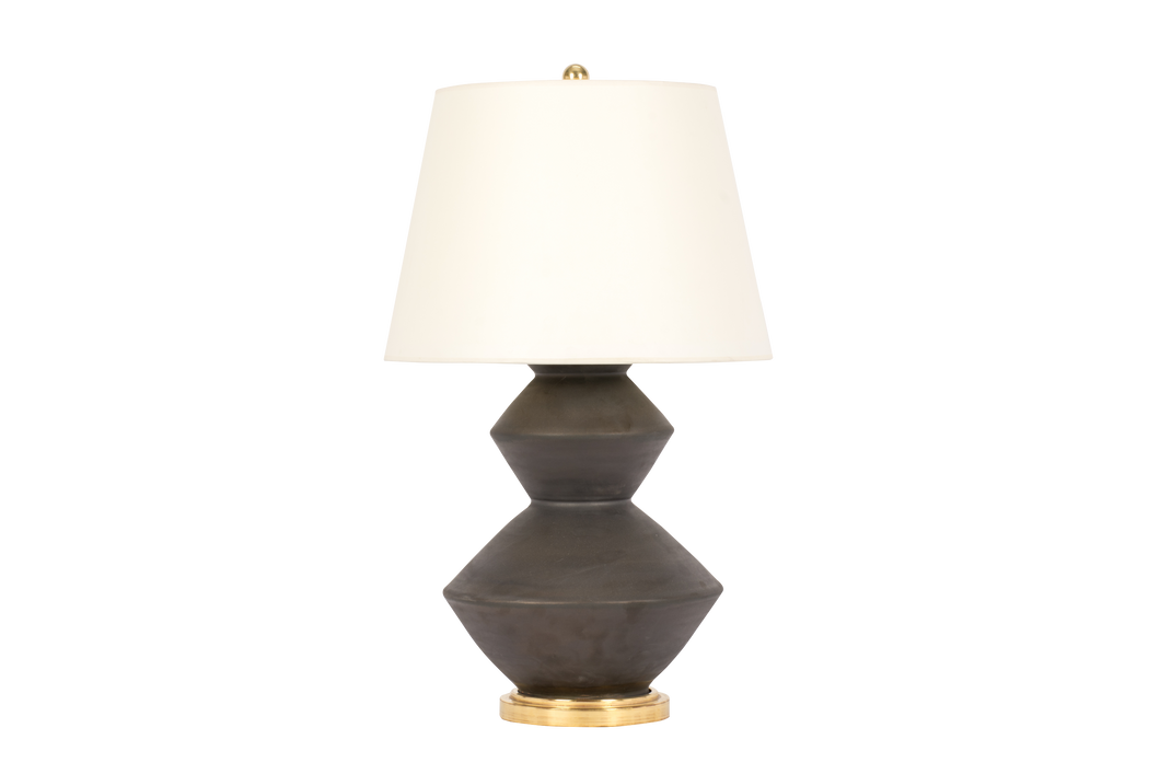 Wide Zig Zag Lamp in Matte Bronze