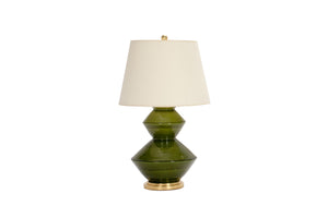 Wide Zig Zag Lamp in Spruce