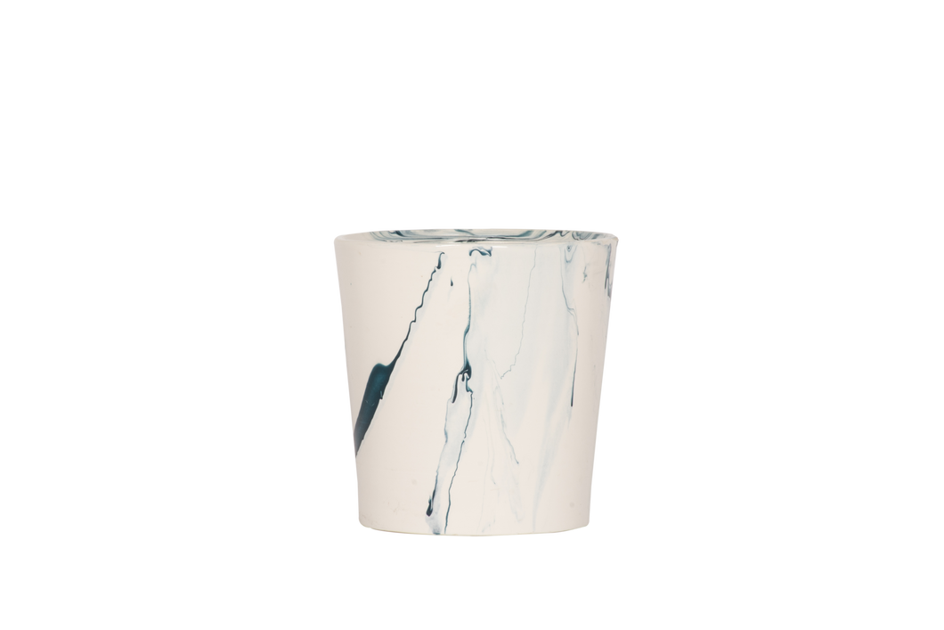 Hand Thrown Wine Cooler in Teal Marble