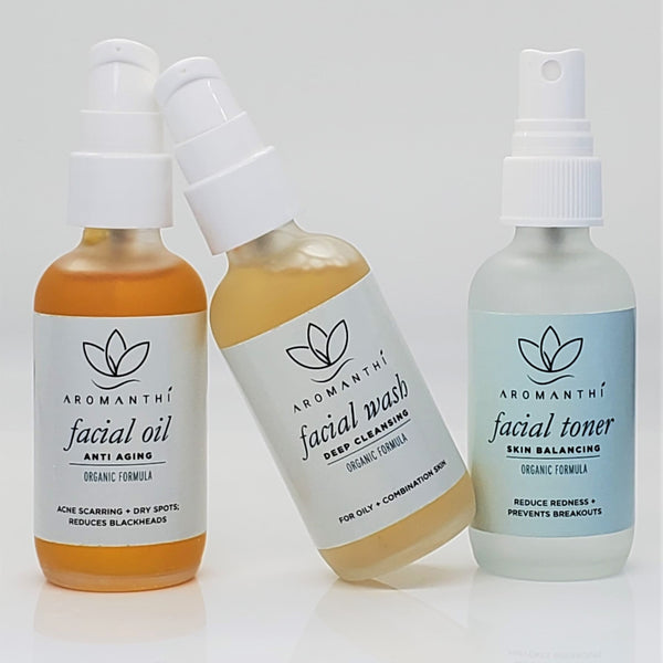 Facial Oils, Wash and Toner
