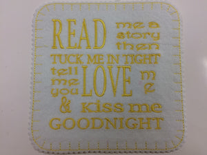 "Iron on Read Me A Story Patch  15cm x 15cm (6""x 6"")"