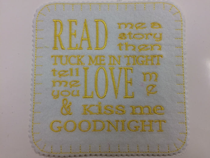 Iron on Read Me A Story Patch  15cm x 15cm (6