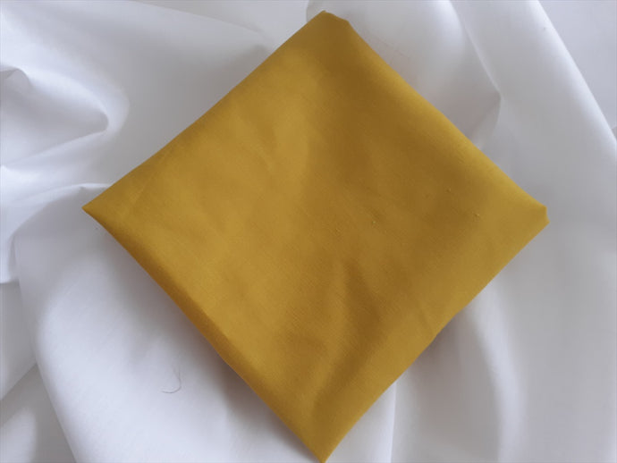 Plain Mustard Gold Poly Cotton