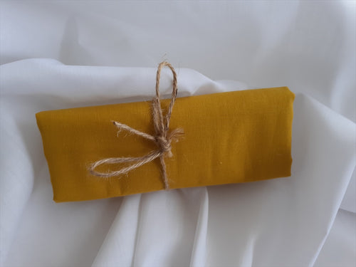 Plain Mustard Gold 100% Cotton Fabric