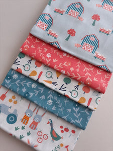 Farm Animals Barns & Vegetables  Fat Quarter Bundle  100% Cotton