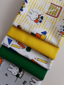 Miffy Back to School Fat Quarter Bundle 100% Cotton