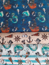 Load image into Gallery viewer, Pirate Ships Nautical Notions Whales & Dragons Fat Quarter Bundle 100% Cotton
