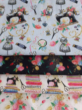 Load image into Gallery viewer, Sewing Notions & Vintage Flowers Fat Quarter Bundle 100% Cotton