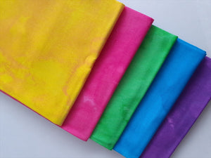 Textured Brights Fat Quarter Bundle  100% Cotton