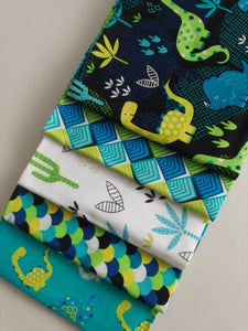 Desert Dinosaurs Fat Quarter Bundle 100% Cotton