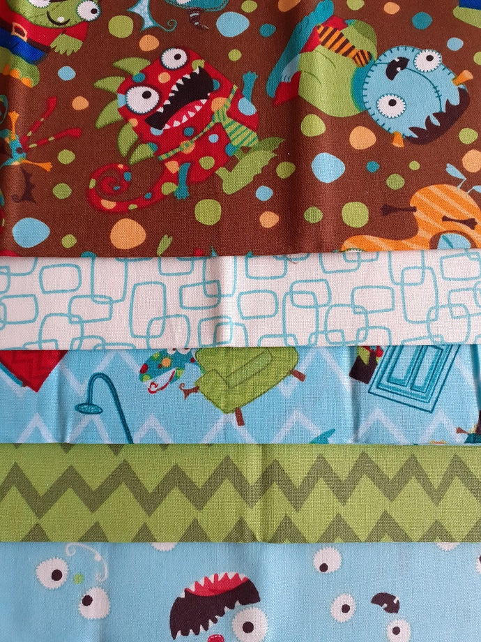 Monster Mash Childrens Designs Fat Quarter Bundle 100% Cotton