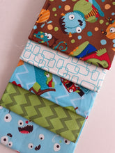Load image into Gallery viewer, Monster Mash Childrens Designs Fat Quarter Bundle 100% Cotton