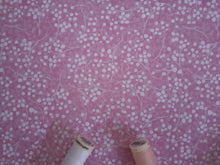 Load image into Gallery viewer, Berry Nice By P&B Textiles White & Pink on a Candy Pink Background 100% Cotton