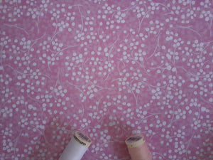 Berry Nice By P&B Textiles White & Pink on a Candy Pink Background 100% Cotton