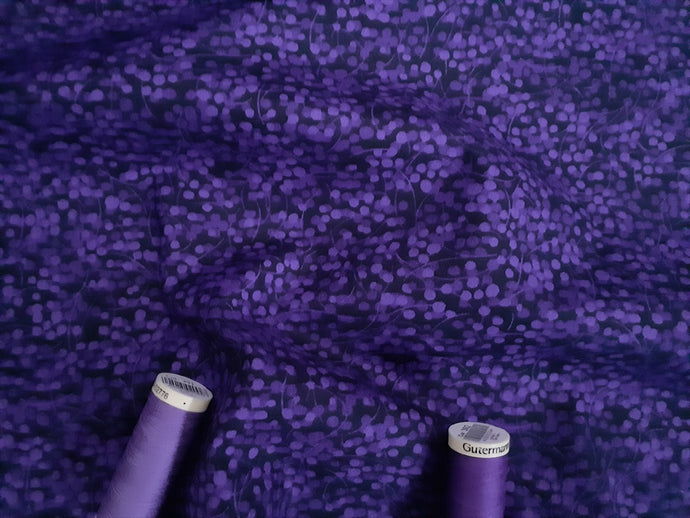 Berry Nice By P&B Textiles Lavender on a Purple Background 100% Cotton