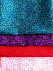 Berry Nice By P&B Textiles Teal Purple Red & Pink Fat Quarter Bundle 100% Cotton