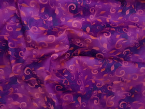 Quilting Treasures Vine Fushia Pink & Purple Mix 100% Cotton
