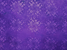 Load image into Gallery viewer, Dreamscapes II Lavender Dot Burst on a Purple Background  100% Cotton
