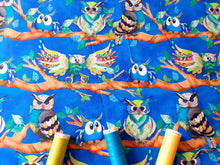 Load image into Gallery viewer, Go Owl Out Goo Owl Multi Color on a Limb By Connie Haley  Digital Print 100% Cotton