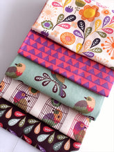 Load image into Gallery viewer, Little Meadow Birds Flowers & Feathers Fat Quarter Bundle 100% Cotton