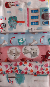 Girls Day Out Accessories Cats & Flowers Fat Quarter Bundle 100% Cotton