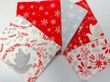 Load image into Gallery viewer, Christmas Doves & Snowflakes Fat Quarter Bundle  100% Cotton