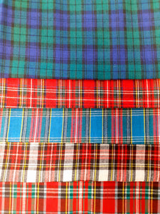 Christmas Tartan Mix Fat Quarter Bundle  100% Cotton