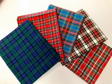 Load image into Gallery viewer, Christmas Tartan Mix Fat Quarter Bundle  100% Cotton