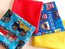 Load image into Gallery viewer, Tonka Trucks Building & Bright Plain Fat Quarter Bundle 100% Cotton