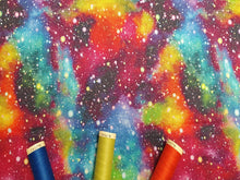 Load image into Gallery viewer, Galaxy Starburst Bright Bold Multi Color Mix Digital Print 100% Cotton