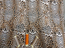 Load image into Gallery viewer, Animal Skin Leopard Design Brown Beige & Black Digital Print 100% Cotton