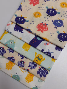 Cutest Little Monsters Fat Quarter Bundle  100% Cotton