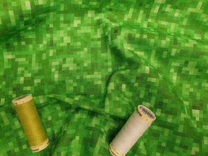 Pixels Design Lime & Emerald Green Digital Print 100% Cotton