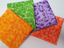 Load image into Gallery viewer, Bright Pixel Designs Orange Purple Green & Red Fat Quarter Bundle 100% Cotton