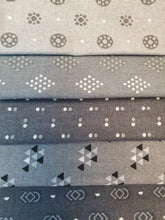 Load image into Gallery viewer, Essential Trends Dark Mid & Silver Grey Mix Fat Quarter Bundle  100% Cotton