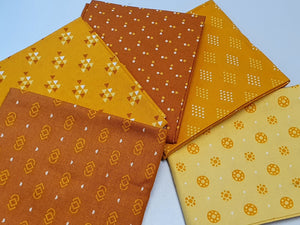 Essential Trends Mustard Yellow & Lemon Mix Fat Quarter Bundle  100% Cotton