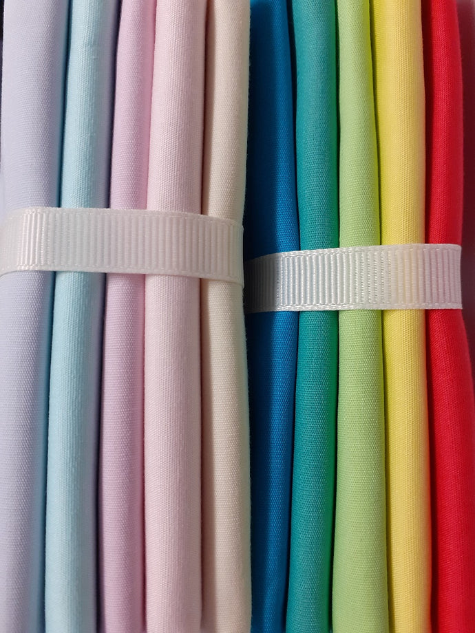 Bright & Pastel Mix Fat Quarter Bundle  100% Cotton