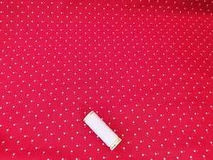 Essential Trend Blender Dots on a Red Background 100% Cotton