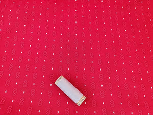 Essential Trend Blender Links on a Red Background 100% Cotton