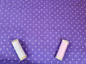 Essential Trend Blender Dots on a Lavender Background 100% Cotton