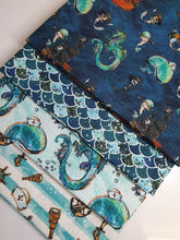 Load image into Gallery viewer, Pirates Nautical Notions Whales & Dragons Fat Quarter Bundle 100% Cotton