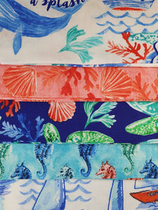 Sea Life Mix Fat Quarter Bundle  100% Cotton