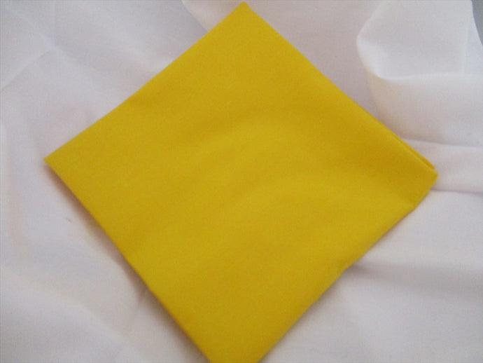 Plain Bright Yellow Poly Cotton