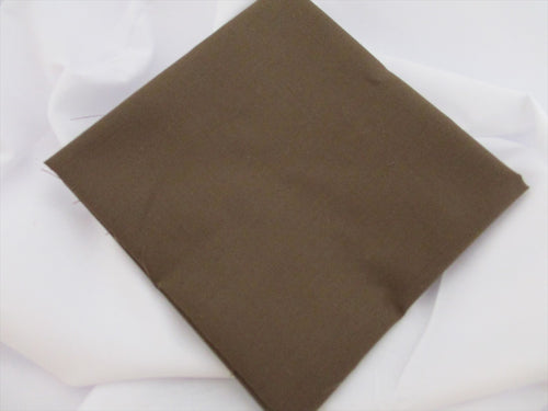 Plain Chocolate Poly Cotton