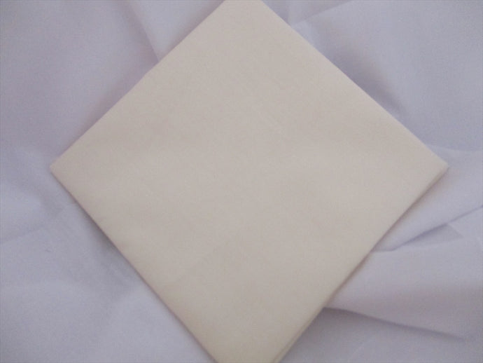 Plain Cream Poly Cotton