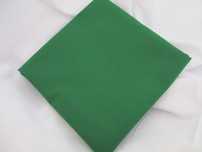 Plain Emerald Green Poly Cotton